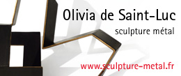 Sculptures metal Olivia de Saint-Luc